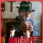 Rowan Atkinson, Ben Caplan, and Mia Jexen in Maigret (2016)