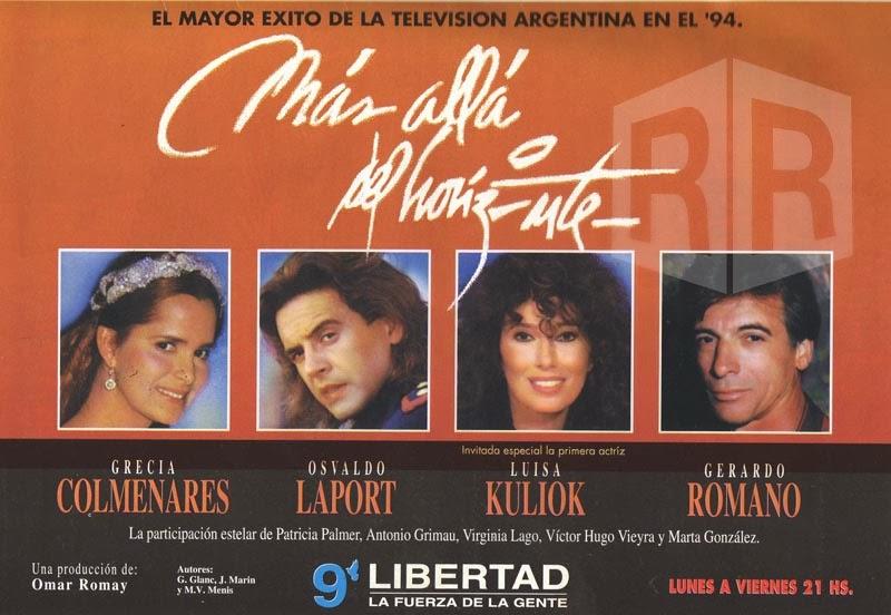 Grecia Colmenares, Luisa Kuliok, Osvaldo Laport, and Gerardo Romano in Más allá del horizonte (1994)