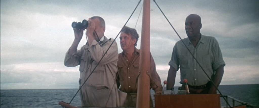 George C. Scott, Julius Harris, and David Hemmings in Islands in the Stream (1977)