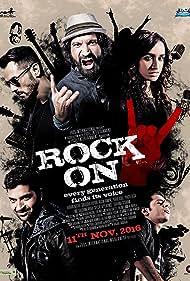 Arjun Rampal, Farhan Akhtar, Purab Kohli, Shashank Arora, and Shraddha Kapoor in Rock On 2 (2016)