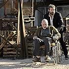 Patrick Stewart and Hugh Jackman in Logan (2017)