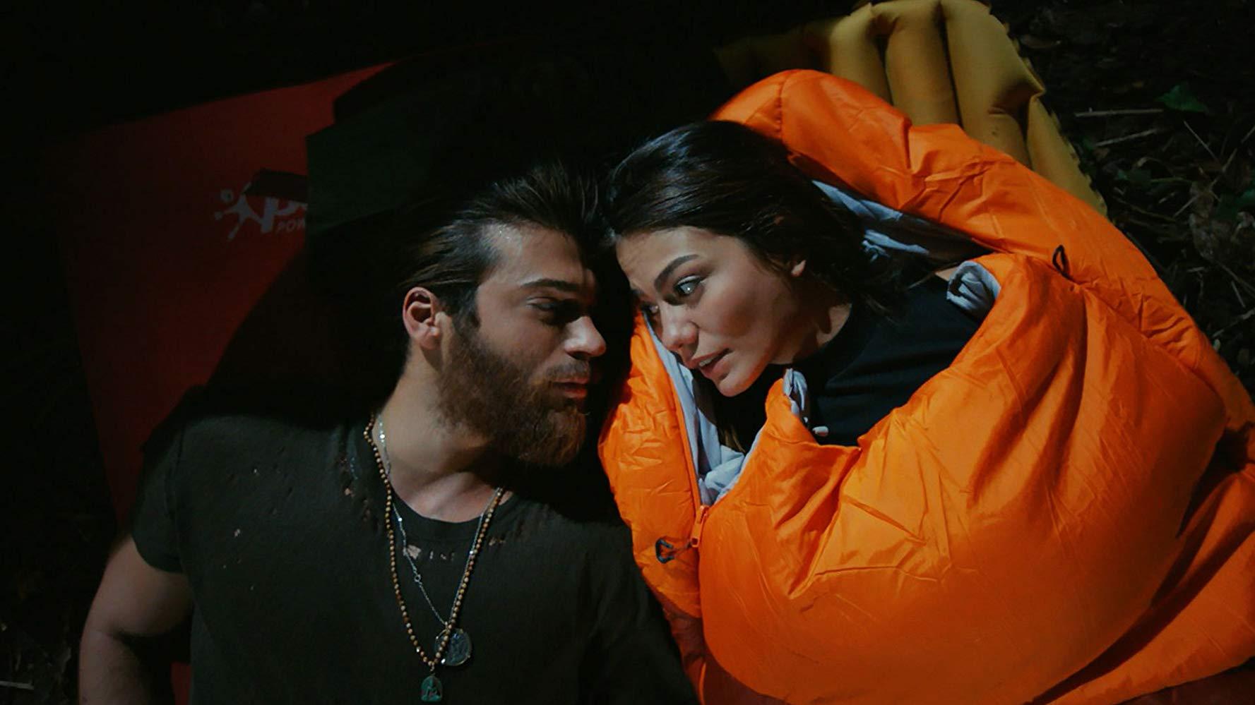 Demet Özdemir and Can Yaman in Erkenci Kus (2018)