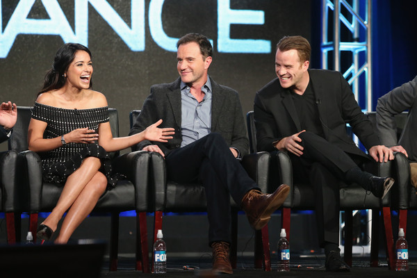 (L-R) Actors Dilshad Vadsaria, Tim DeKay and Rob Kazinsky speak onstage during the 'Second Chance' panel discussion at the FOX portion of the 2015 Winter TCA Tour at the Langham Huntington Hotel on January 15, 2016 in Pasadena, California