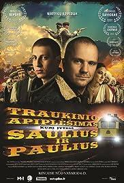 Traukinio apiplesimas, kuri ivykde Saulius ir Paulius Poster