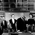"""5758-2 Katharine Hepburn, Spencer Tracy, Joan Blondell in """"Desk Set"""" 1957 MPTV"""