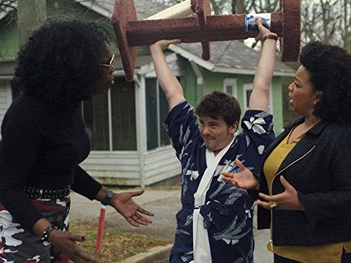 Leslie Jones, Jason Ritter, and Kimberly Hebert Gregory in Kevin (Probably) Saves the World (2017)