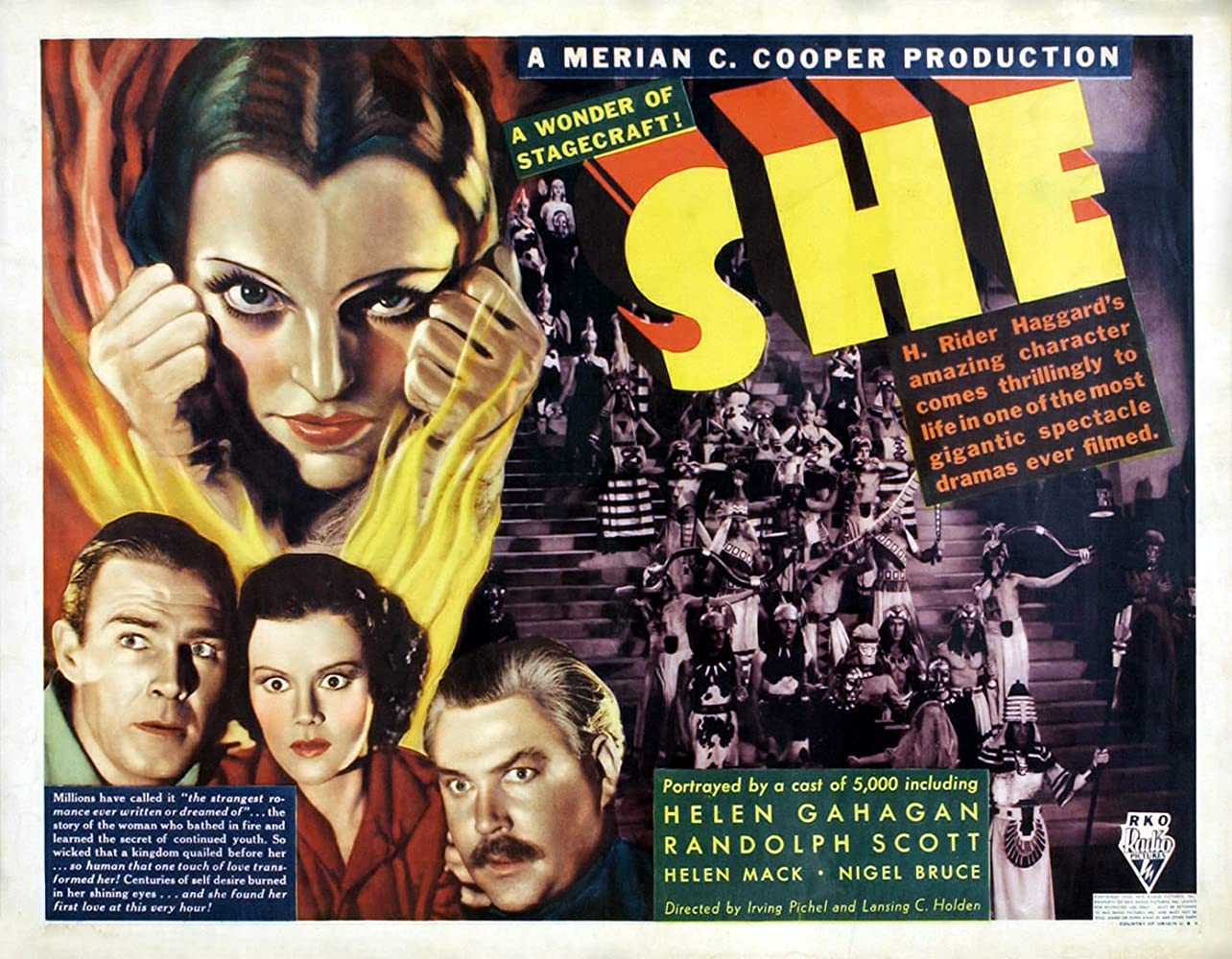 Randolph Scott, Nigel Bruce, Helen Gahagan, and Helen Mack in She (1935)
