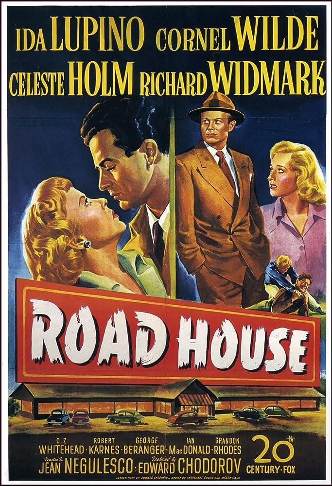 Richard Widmark, Celeste Holm, Ida Lupino, and Cornel Wilde in Road House (1948)
