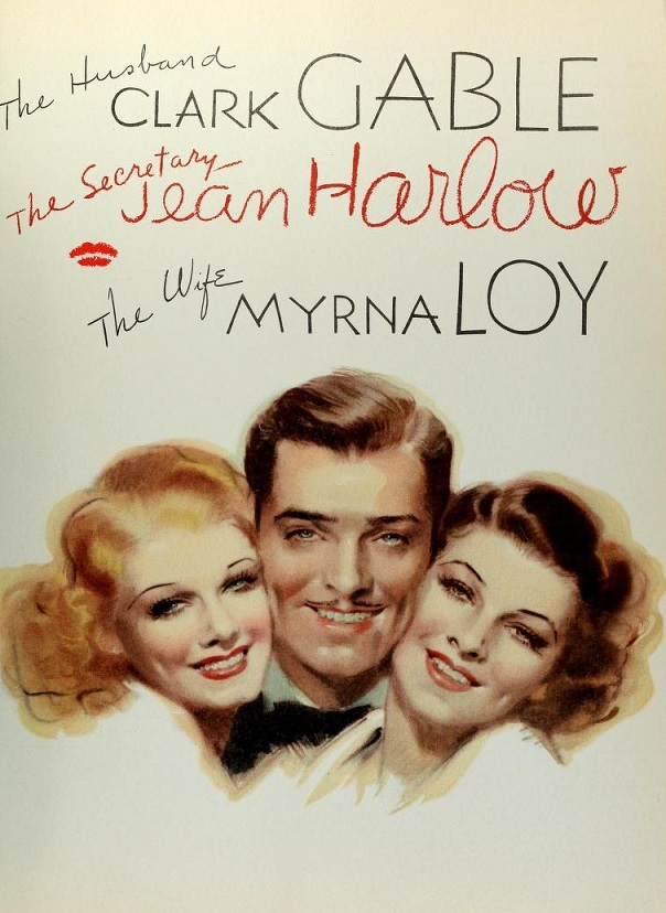 Clark Gable, Jean Harlow, and Myrna Loy in Wife vs. Secretary (1936)