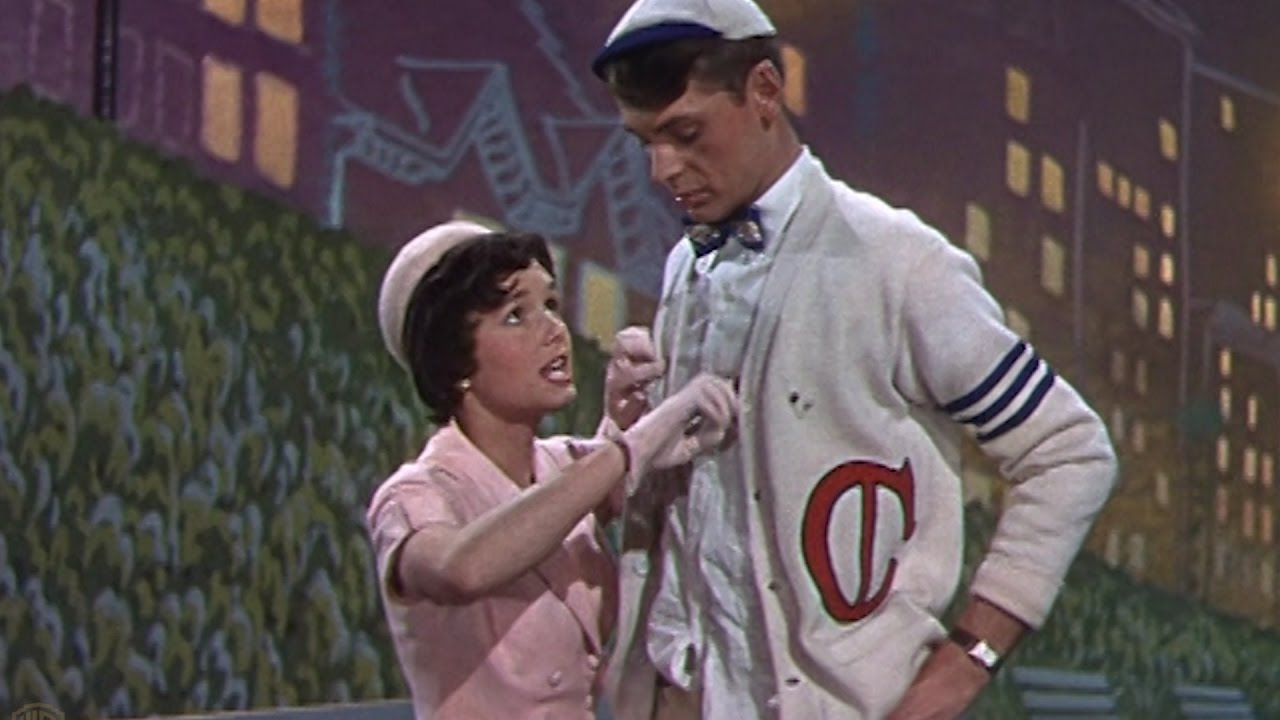 Debbie Reynolds and Carleton Carpenter in Three Little Words (1950)