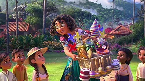 """Walt Disney Animation Studios' """"Encanto,"""" is the tale of an extraordinary family, the Madrigals, who live hidden in the mountains of Colombia in a magical house, in a vibrant town, in a wondrous, charmed place called an Encanto. The all-new original film features the voice of Stephanie Beatriz as Mirabel, an ordinary 15-year-old who's struggling to find her place in her family."""