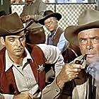 Rory Calhoun, Dean Jagger, and Robert Middleton in Red Sundown (1956)