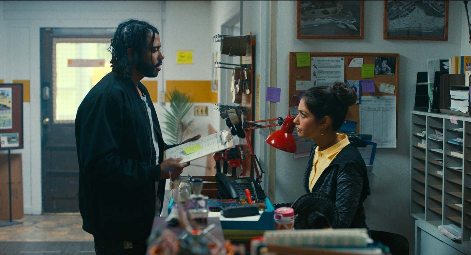 Janina Gavankar and Daveed Diggs in Blindspotting (2018)