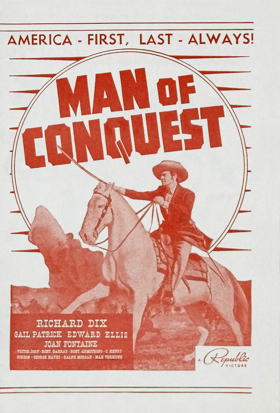 Richard Dix in Man of Conquest (1939)