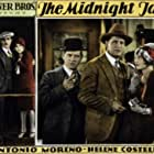 Myrna Loy, Helene Costello, Antonio Moreno, and William Russell in The Midnight Taxi (1928)