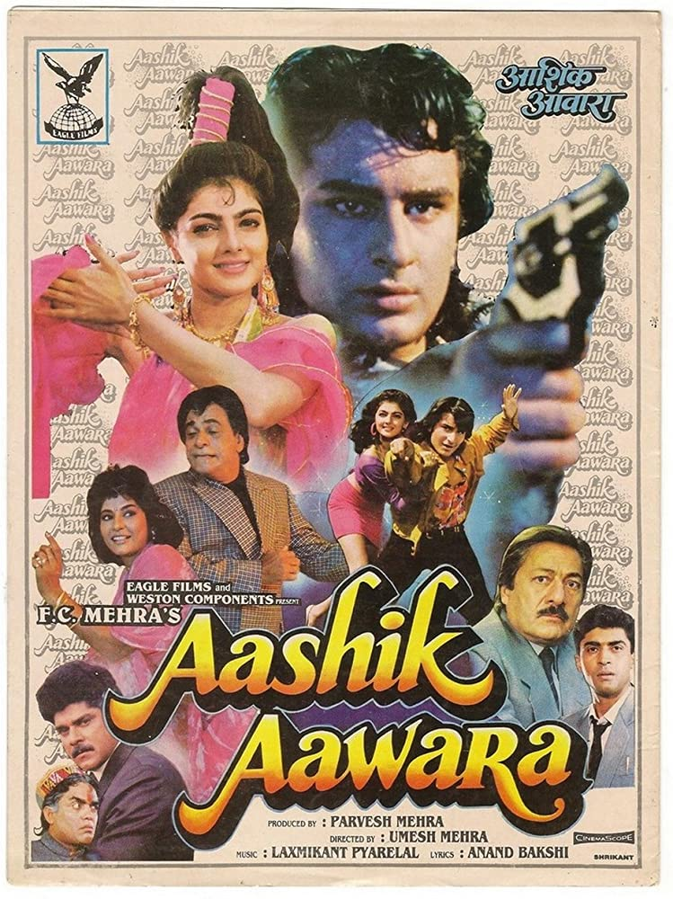 Aashik Aawara 1993 Hindi 720p HDRip ESubs Download