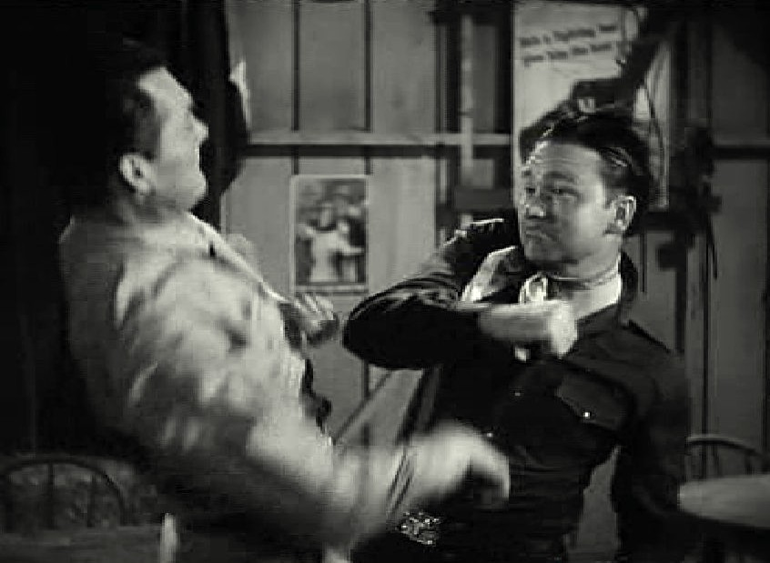 Tex Ritter and Charles Starrett in Cowboy Canteen (1944)