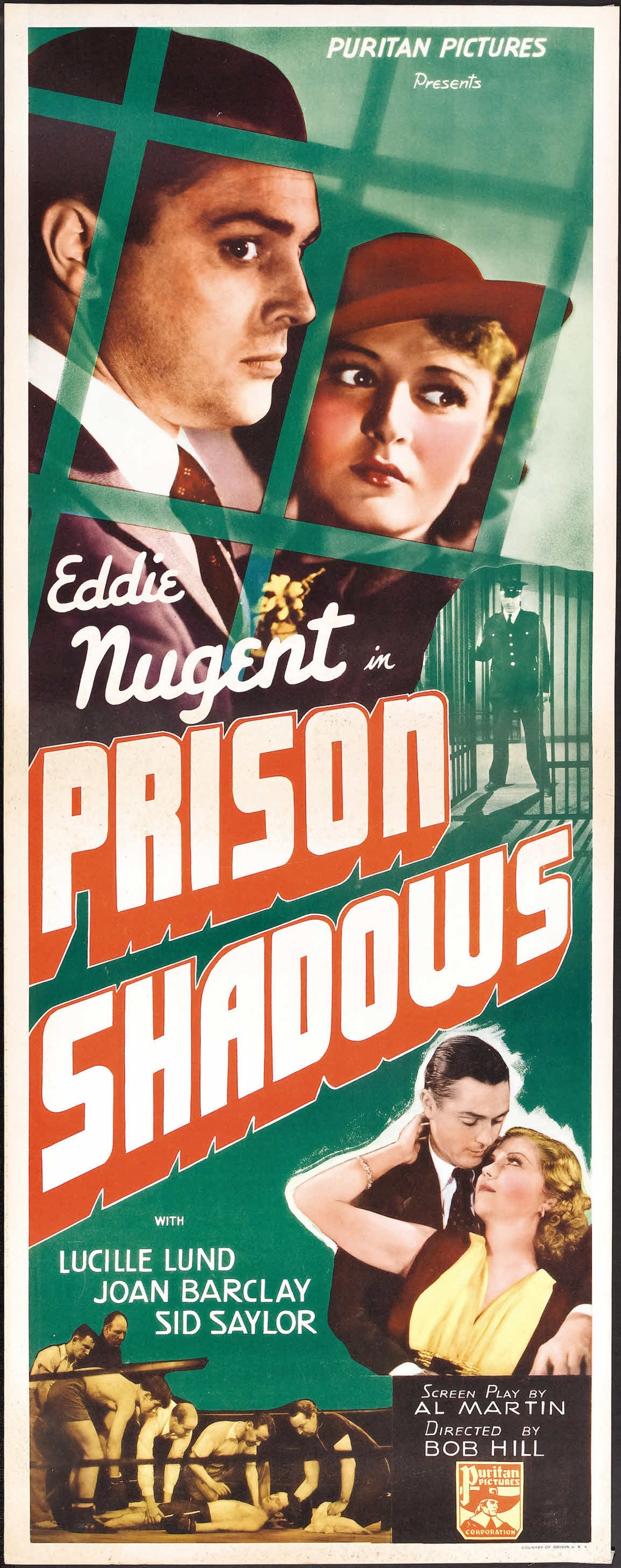 Joan Barclay, Lucille Lund, and Edward J. Nugent in Prison Shadows (1936)