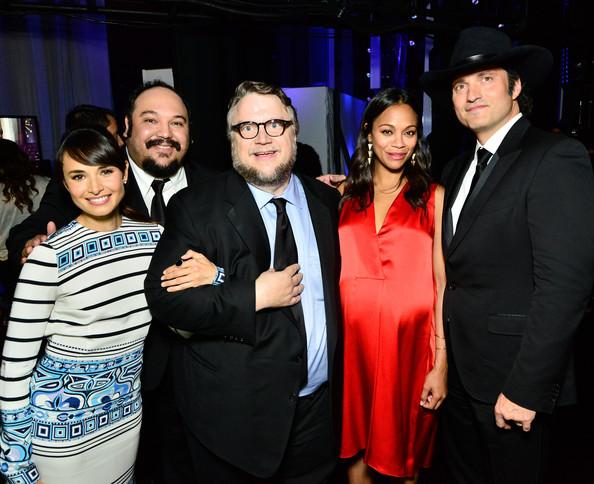 Robert Rodriguez, Mía Maestro, Zoe Saldana, Guillermo del Toro, and Jorge R. Gutiérrez