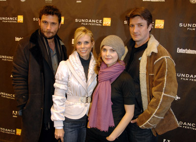 Keri Russell, Jeremy Sisto, Nathan Fillion, and Cheryl Hines at an event for Waitress (2007)