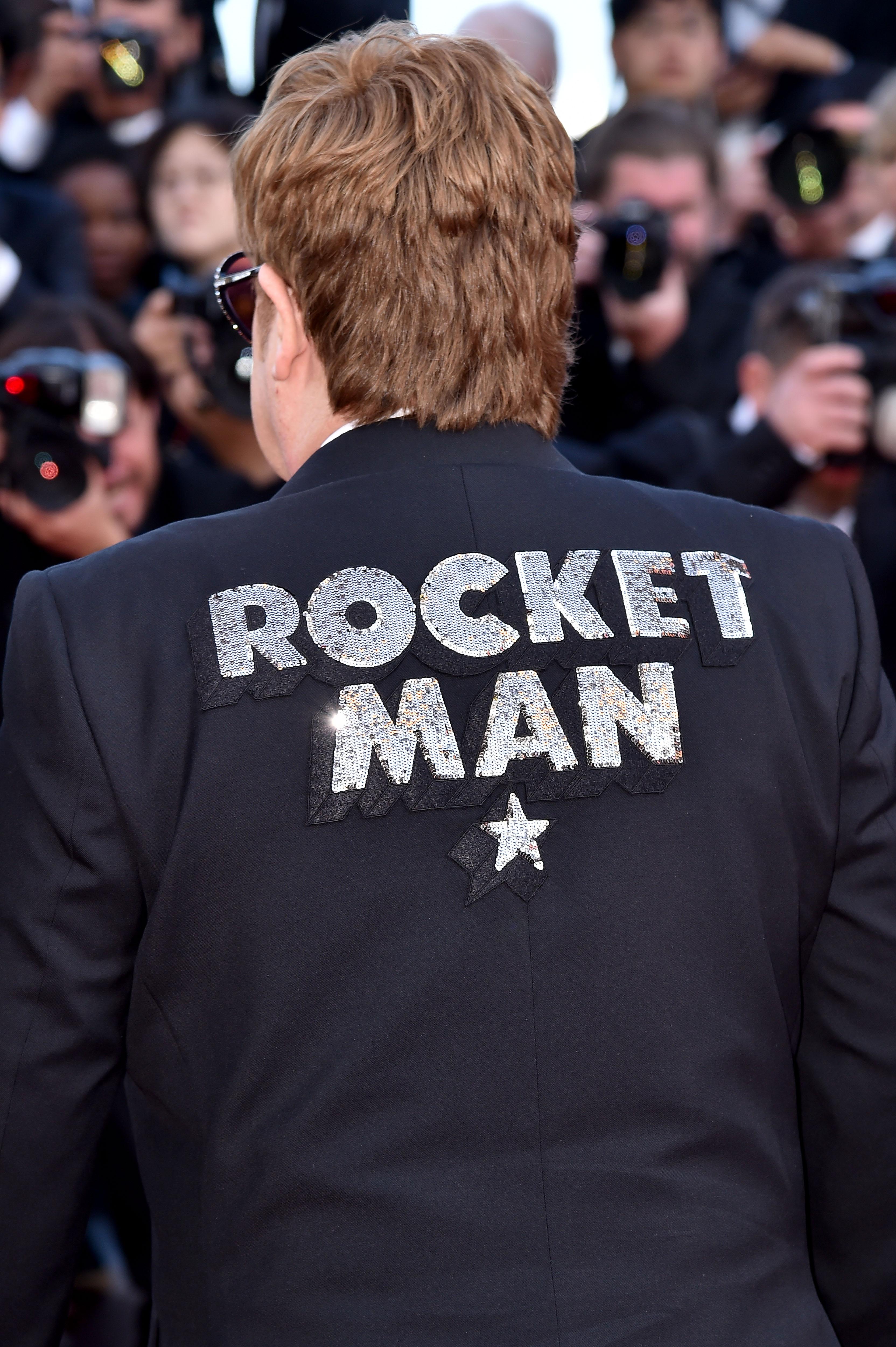 Elton John at an event for Rocketman (2019)