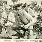 Lionel Jeffries, Gordon Scott, and Charles 'Bud' Tingwell in Tarzan the Magnificent (1960)