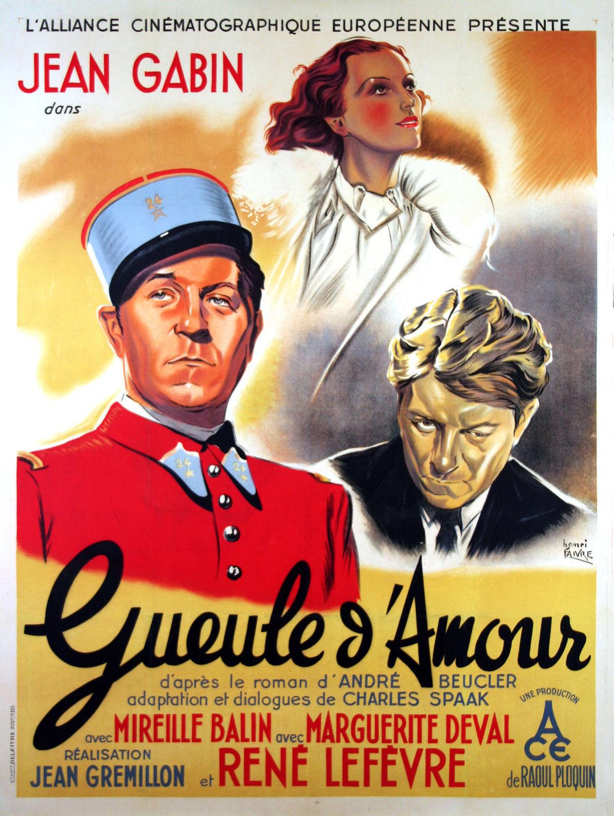 Gueule D Amour 1937 Imdb