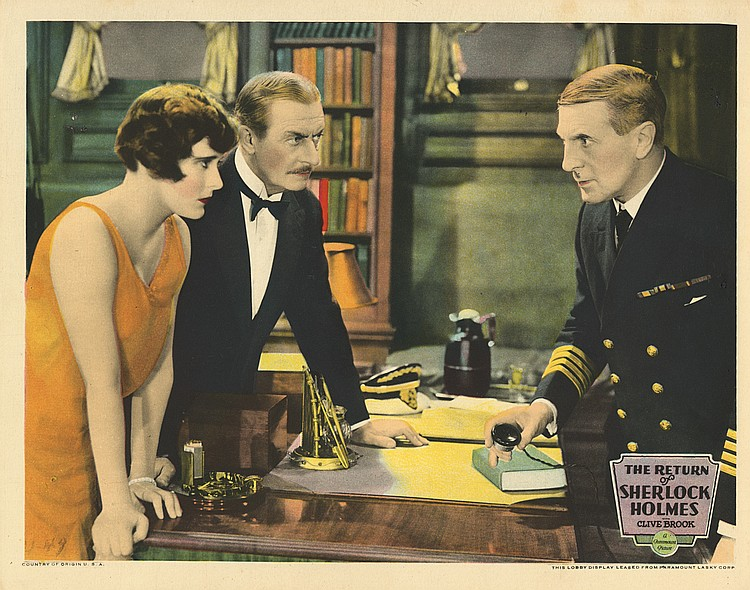 Charles Hay, Betty Lawford, and H. Reeves-Smith in The Return of Sherlock Holmes (1929)