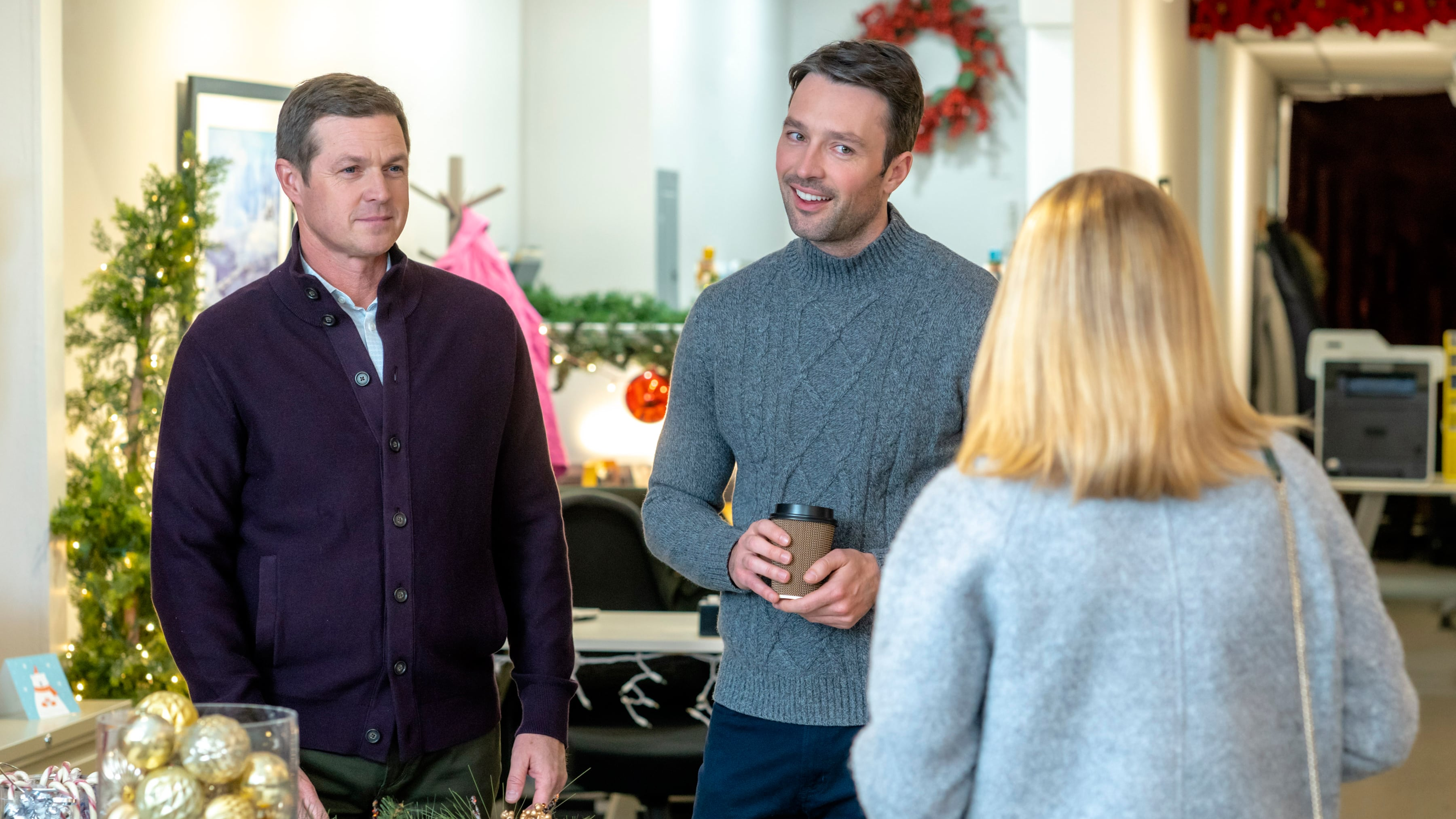 Eric Close, Jen Lilley, and Carlo Marks in Angel Falls: A Novel Holiday (2019)