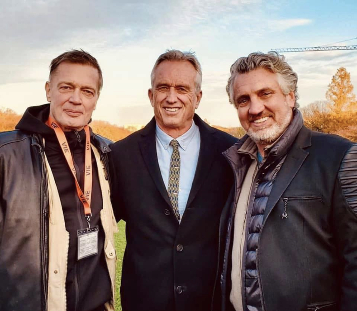Robert F. Kennedy Jr., Del Matthew Bigtree, and Andrew Wakefield at an event for Vaxxed II: The People's Truth (2019)