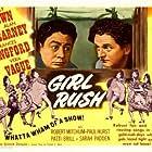 Virginia Belmont, Wally Brown, Alan Carney, Rita Corday, Daun Kennedy, Rosemary La Planche, Suzanne Ridgway, and Elaine Riley in Girl Rush (1944)