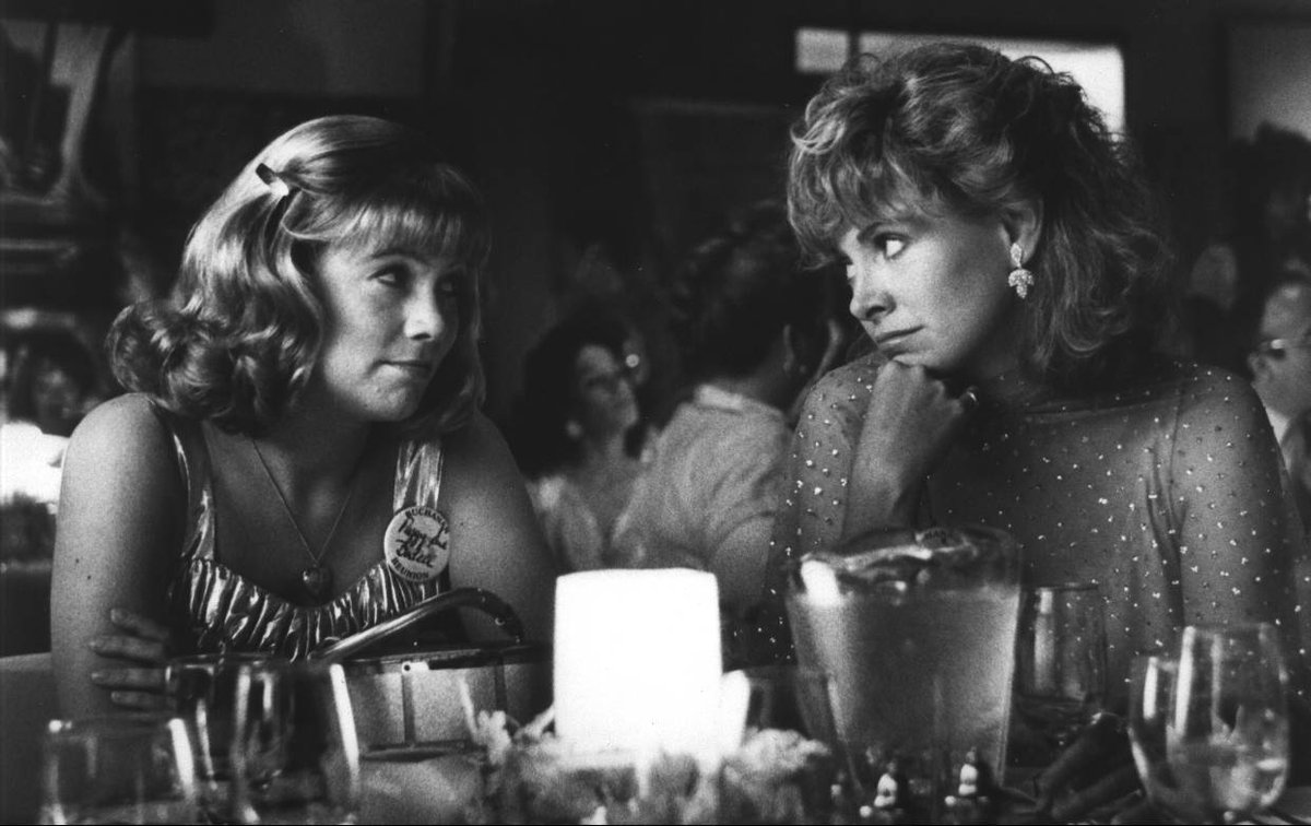 Kathleen Turner and Catherine Hicks in Peggy Sue Got Married (1986)