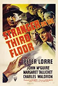 Peter Lorre, Ethel Griffies, and John McGuire in Stranger on the Third Floor (1940)