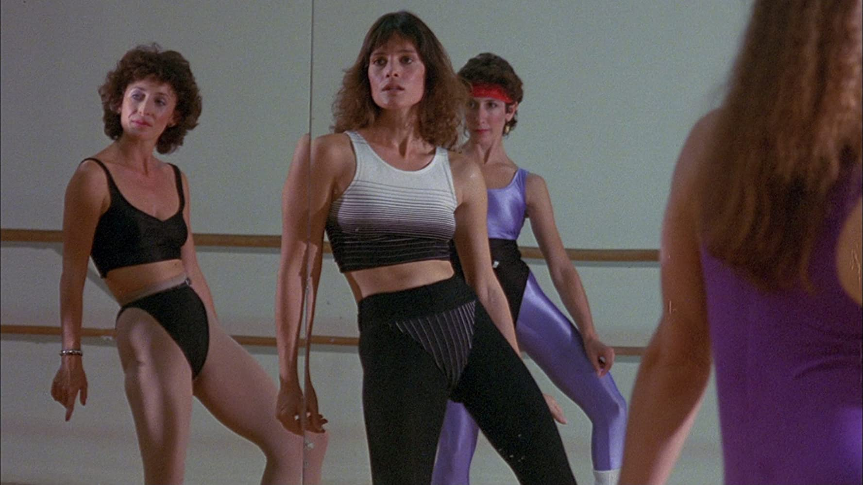 Situazione tipica degli anni '80: body building
