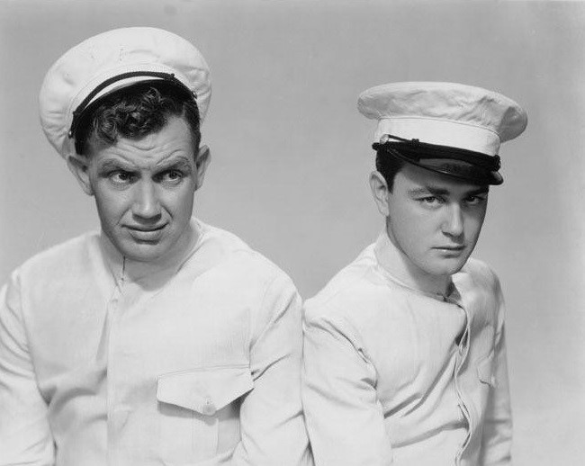 Lew Ayres and Andy Devine in The Impatient Maiden (1932)