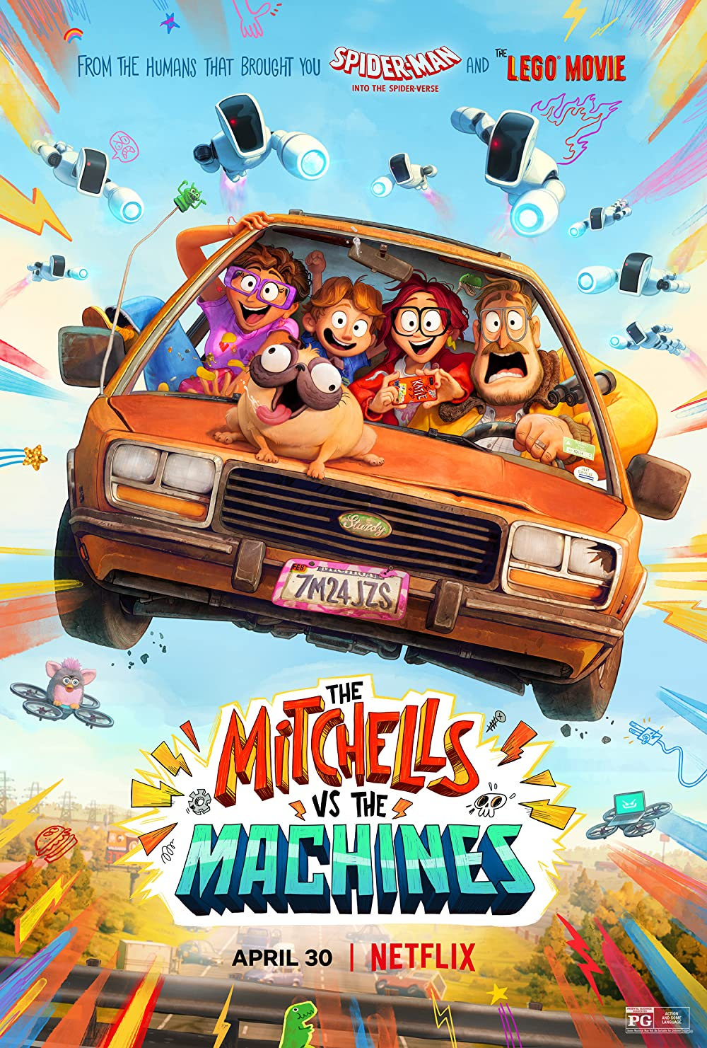 The Mitchells vs. The Machines 2021 Hindi ORG Dual Audio 1080p NF HDRip MSub 1.6GB Download