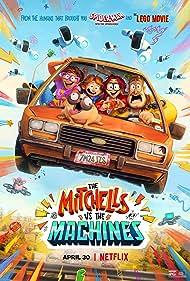 Maya Rudolph, Danny McBride, Olivia Colman, Abbi Jacobson, Michael Rianda, and Doug the Pug in The Mitchells vs the Machines (2021)