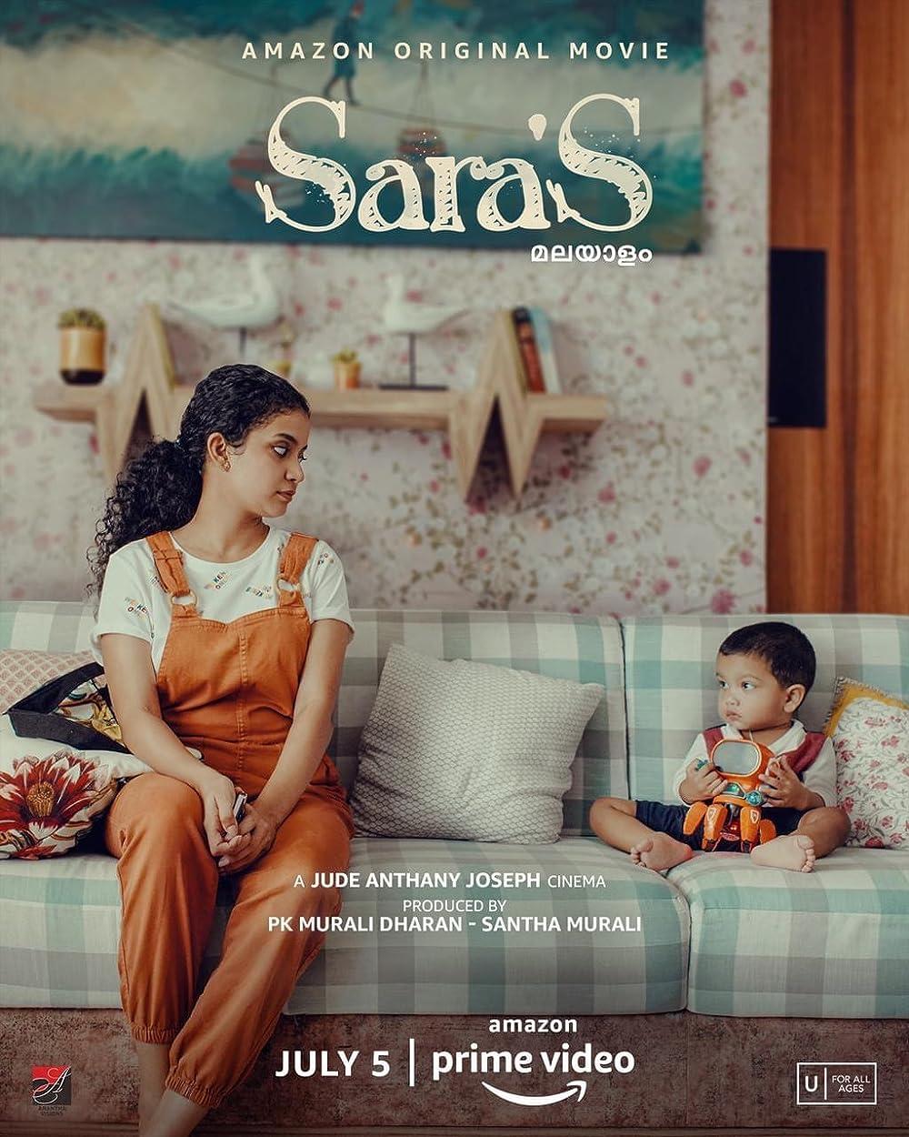 Sara'S 2021 Malayalam 720p AMZN HDRip ESub 1.1GB Download