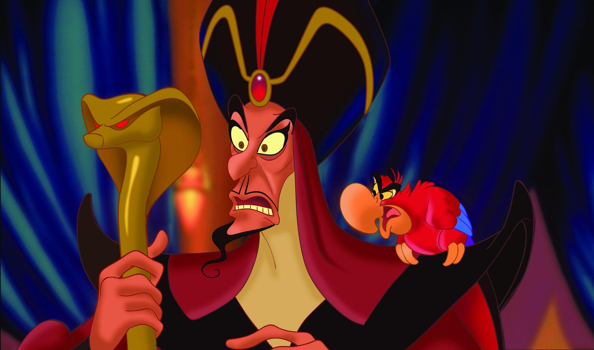 Jonathan Freeman and Gilbert Gottfried in Aladdin (1992)