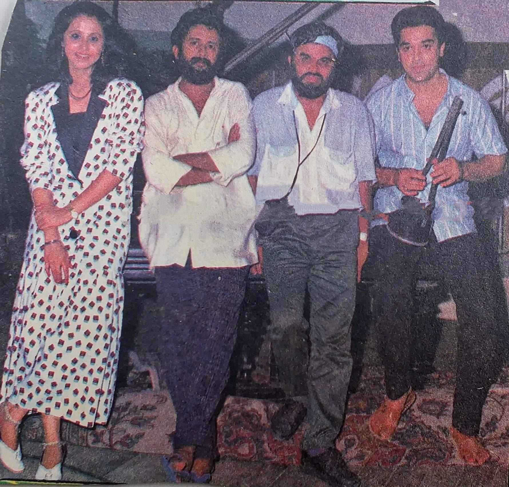 Urmila Matondkar and Kamal Haasan in Chanakyan (1989)