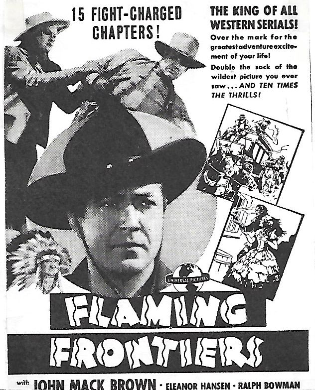 James Blaine, Johnny Mack Brown, and Eleanor Hansen in Flaming Frontiers (1938)