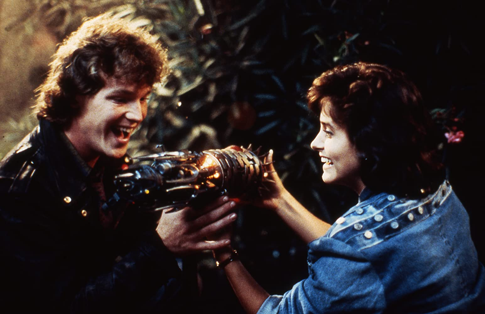 Robert Duncan McNeill and Courteney Cox in Masters of the Universe (1987)