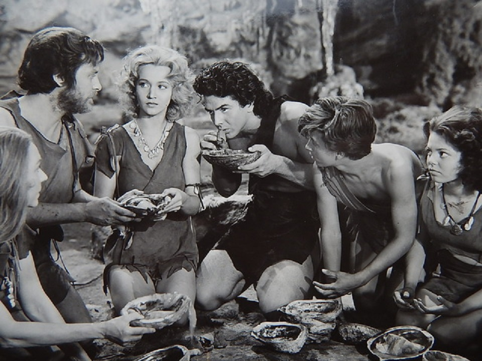 Victor Mature, John Hubbard, and Carole Landis in One Million B.C. (1940)