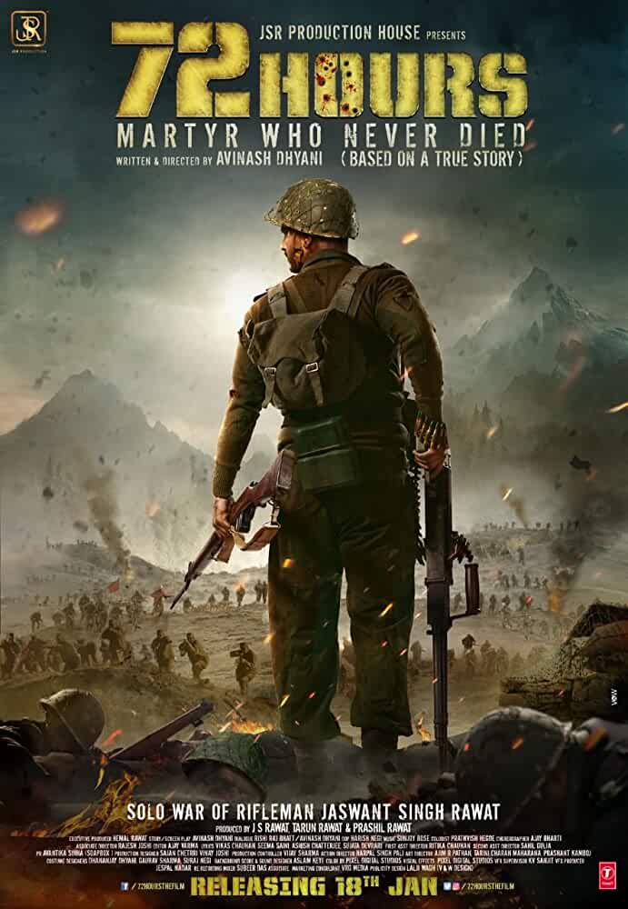 72 Hours Martyr Who Never Died 2019 HDTV Hindi 720p 800MB- Bollywood Movie