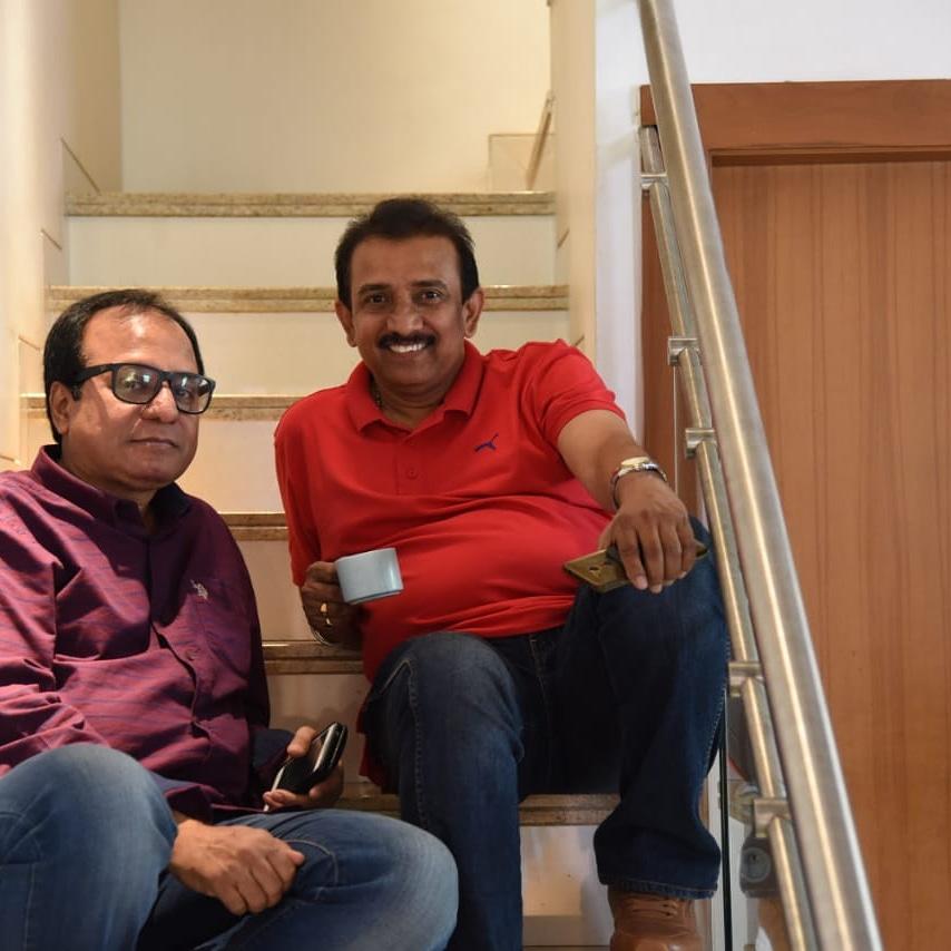 Jayant Gilatar and Jiten Purohit in Gujarat 11 (2019)