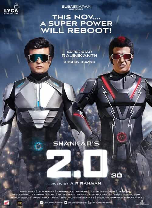 2.0 (Robot 2) (2018) 720p UNCUT HDTVRip Dual Audio Hindi (Original)-Tamil] x264 1.4GB