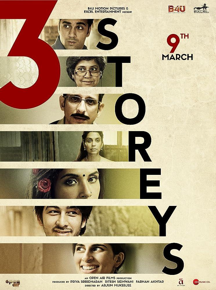 Sharman Joshi, Renuka Shahane, Masumeh Makhija, Richa Chadha, Pulkit Samrat, Aisha Ahmed, and Ankit Rathi in 3 Storeys (2018)