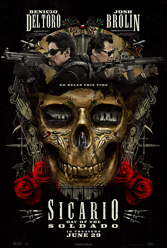 Josh Brolin, Benicio Del Toro, and Isabela Moner in Sicario: Day of the Soldado (2018)