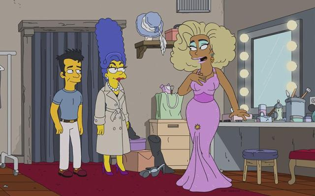 Julie Kavner and RuPaul in The Simpsons (1989)