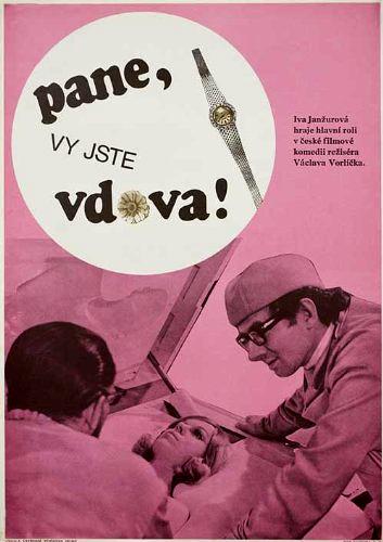 Vlastimil Hasek and Iva Janzurová in Pane, vy jste vdova! (1971)
